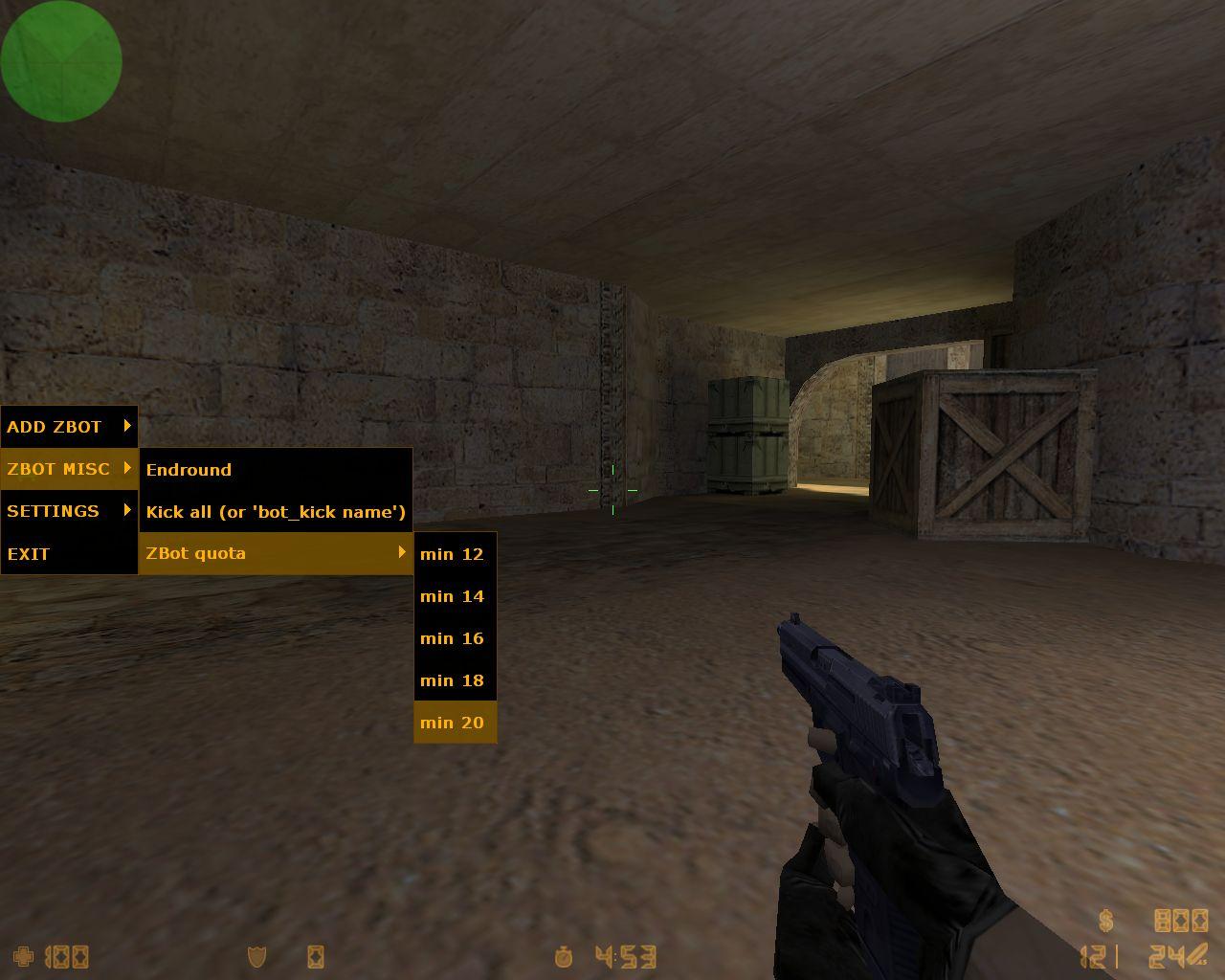 Добавление ботов в CS 1.6 через меню